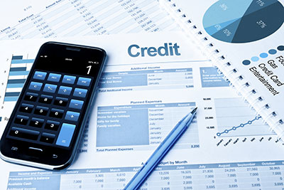 Credit and calculator