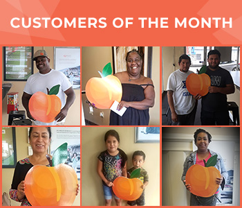 Customers of the Month